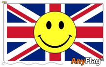 UNION JACK SMILEY FACE  ANYFLAG RANGE - VARIOUS SIZES